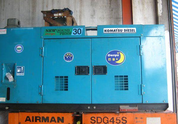 Máy phát điện cũ Komatsu 30kva