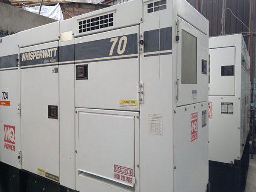Máy phát điện cũ Komatsu 70kva