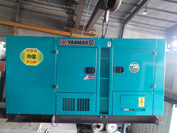 Máy phát điện cũ Yanmar 80kva