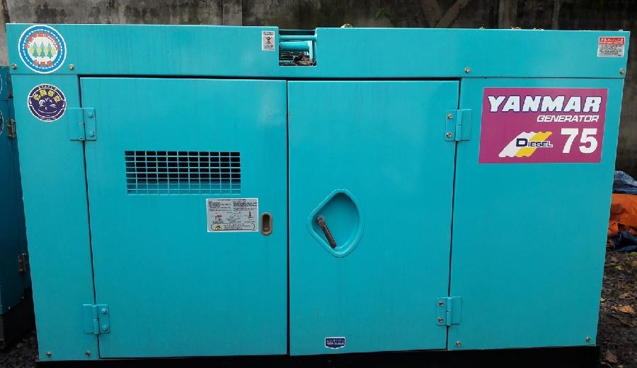 Bán Máy phát điện công nghiệp cũ đầu phát Denyo của Yanmar 75kva