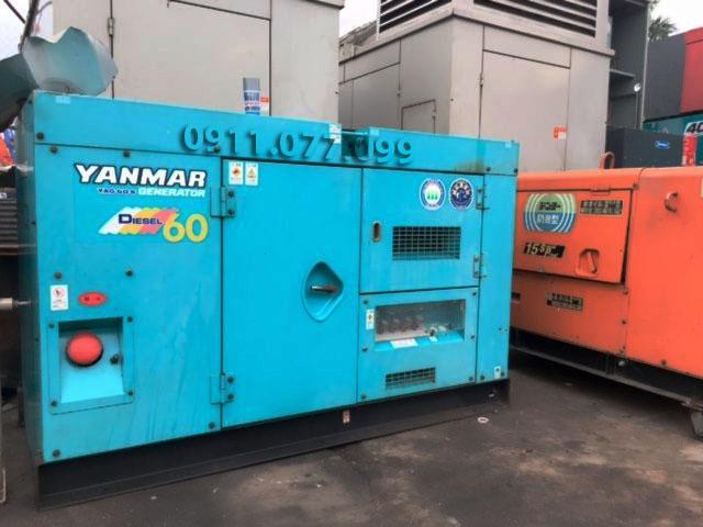 Bán máy phát điện công nghiệp cũ Yanmar 60kva chậy dầu Diesel