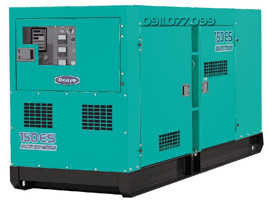 Bán máy phát điện Denyo 150kva cũ giá rẻ động cơ Mitsubishi