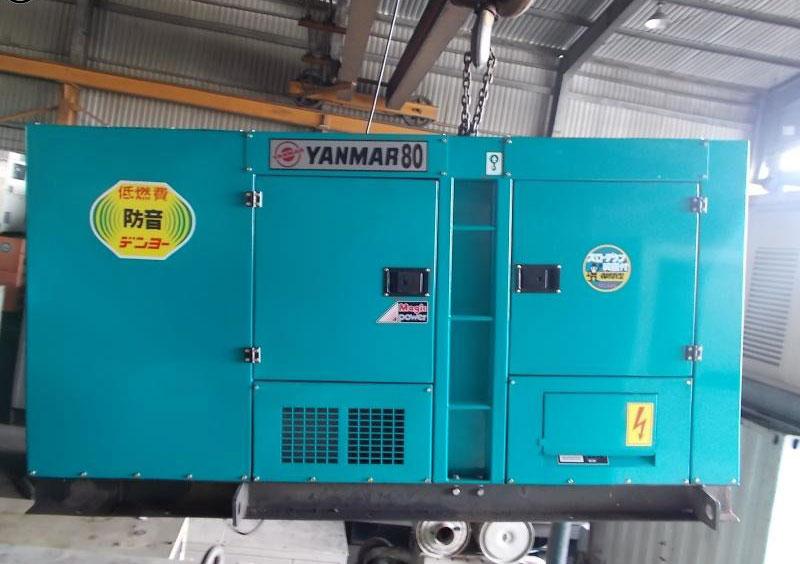 Bảo hành 24 tháng cho máy phát điện cũ Yanmar 80kva