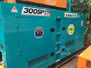 Chi tiết máy phát điện công nghiệp cũ Komatsu 300kva động cơ Denyo