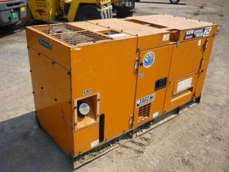 Máy phát điện chạy dầu 25kva của Komatsu Nhật Bản