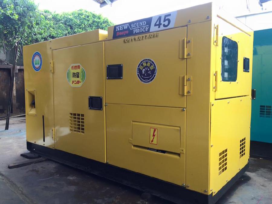 Máy phát điện cũ Denyo 45KVA hàng Nhật Bản có bảo hành toàn quốc