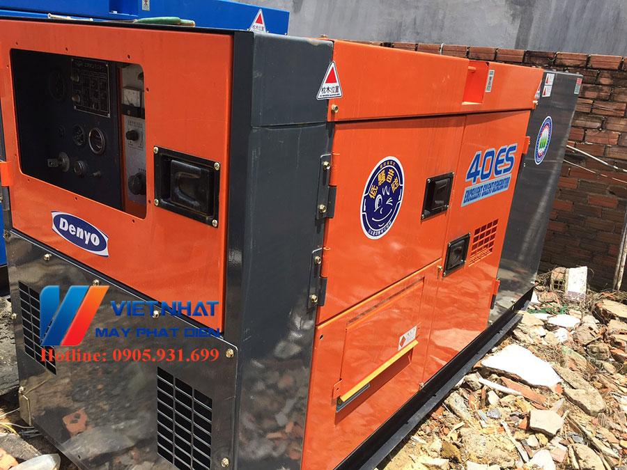 Máy phát điện công nghiệp cũ denyo 40kva